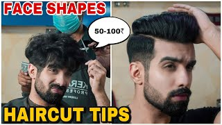 HAIRCUT Tips For Different FACE SHAPES| BEST HAIRSTYLE For Men|| Fade Undercut|Hindi| TheFormalEdit