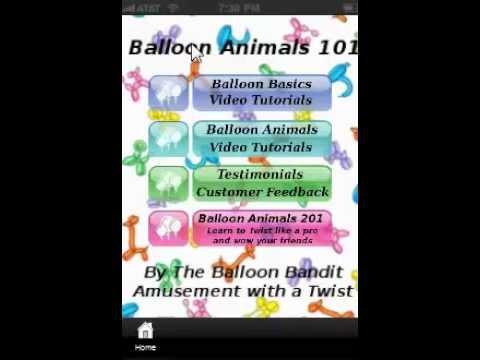 Video of Balloon Animals 101