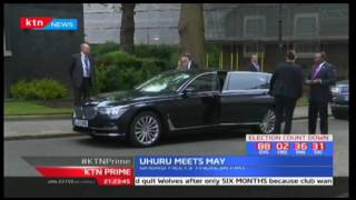 President Uhuru Kenyatta meets with Britain's Prime Minister Teresa May to discuss bilateral trade