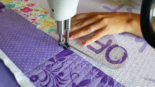Machine Quilting A Simple Modern Border By Natalia Bonner