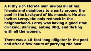 REDNECK MAN SHOCKS PEOPLE AT A POOL PARTY WHEN HE WRESTLED A GATOR