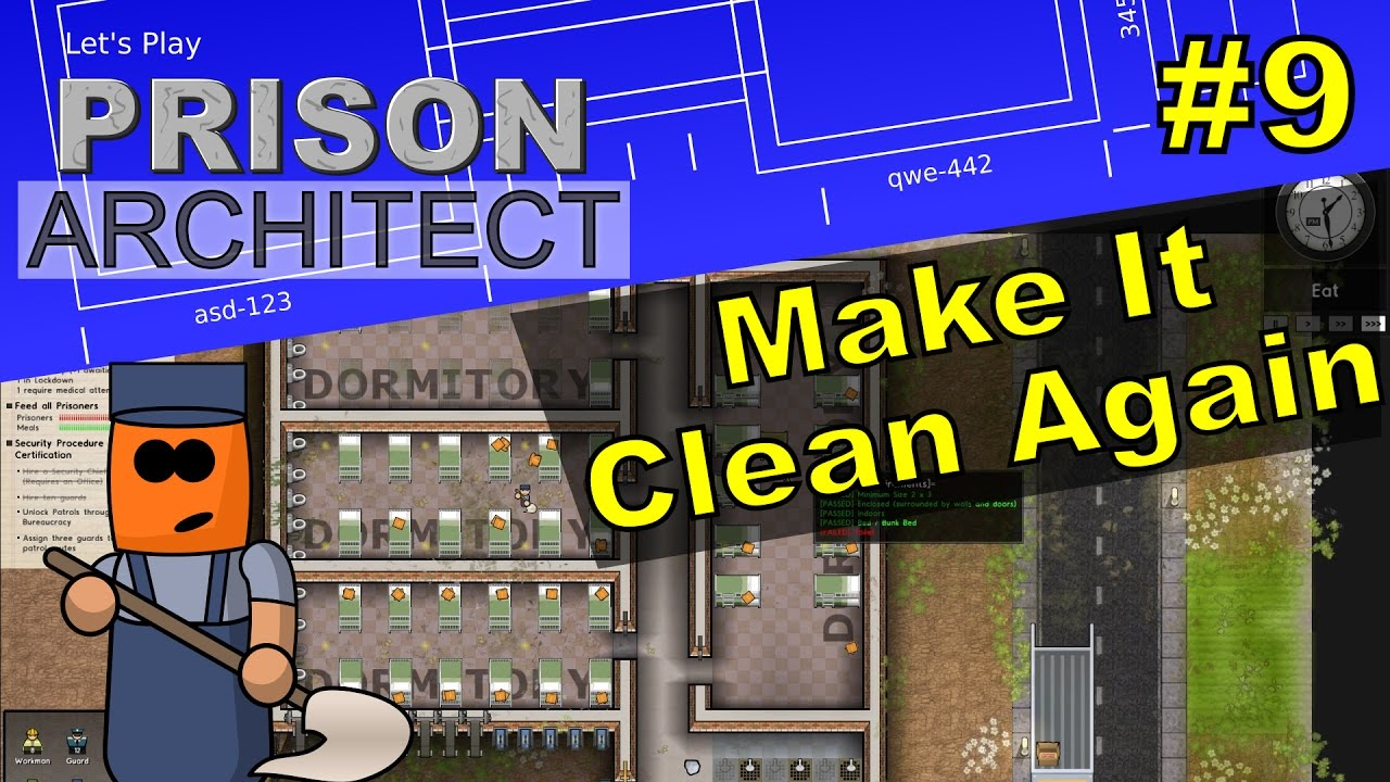 Prison Architect #9 | Make It Clean Again
