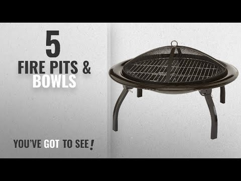 Top 10 Fire Pits & Bowls [2018]: AmazonBasics Portable Folding Fire Pit, 66 cm