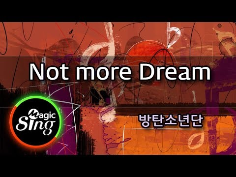 [매직씽아싸노래방] BTS(방탄소년단)_ No more Dream - 노래방(karaoke) _ MAGICSING