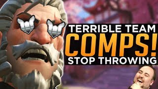 Overwatch: Terrible Team Comps! - Where are the TANKS?!