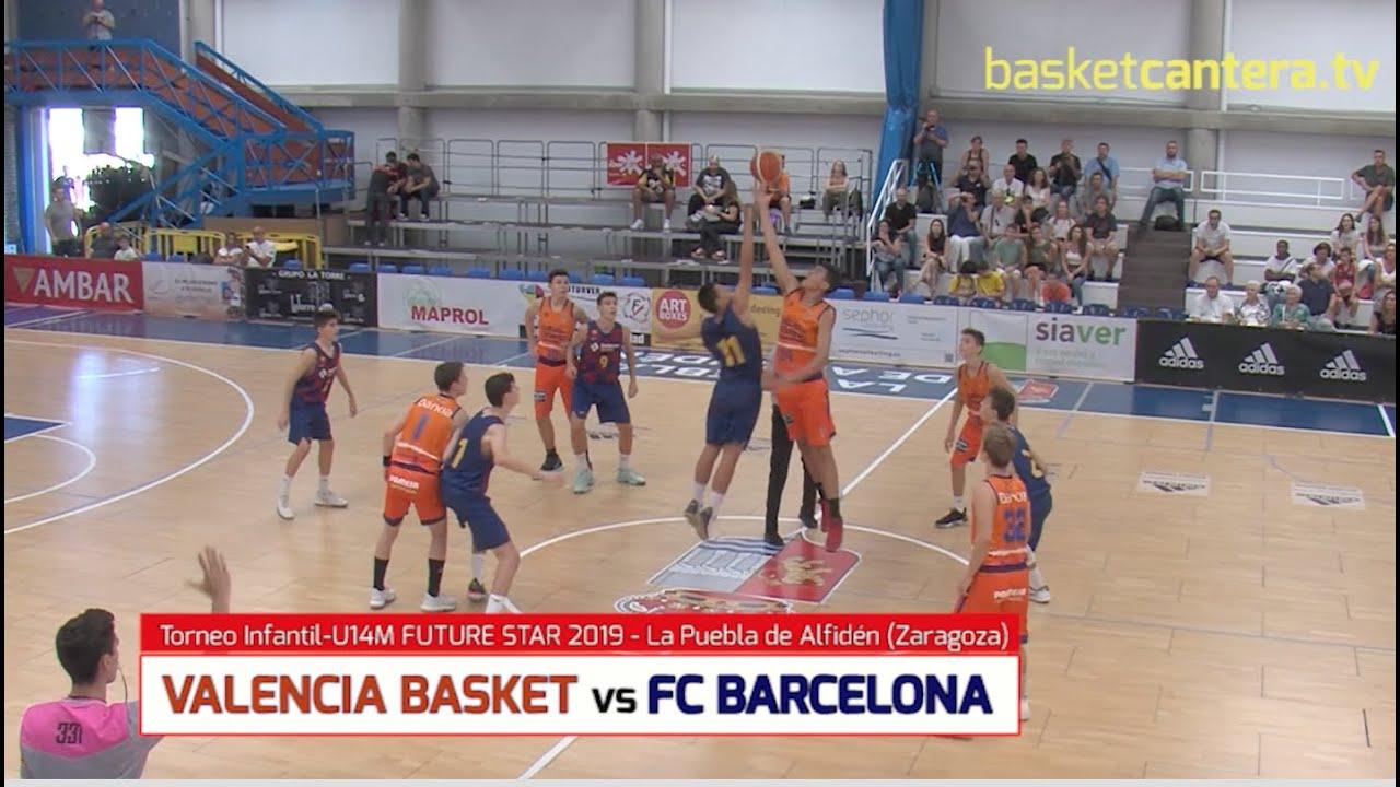 U14M - VALENCIA BASKET vs FC BARCELONA.- Torneo Infantil FUTURE STAR 2019 La Puebla de Alfindén
