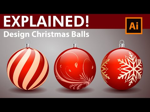 How to Design Decorative Christmas Balls – Adobe Illustrator Tutorial