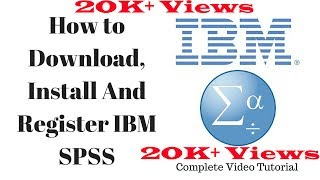 How to Download And Install IBM SPSS statistics