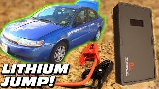 JUMP STARTING A CAR w/ Lithium Battery!? How To Use 1ByOne 12 Volt BOOSTER Pack for DEAD Batteries