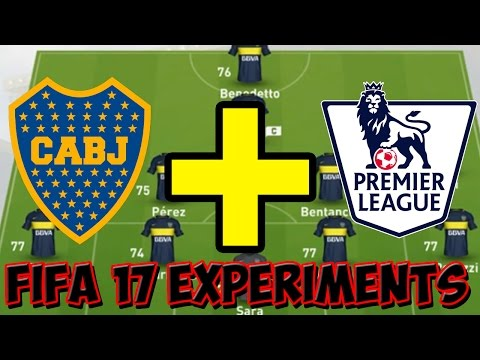 WHAT IF BOCA JUNIORS WERE IN THE PREMIER LEAGUE? - FIFA 17 EXPERIMENTS -FIFA 17 CAREER MODE GAMEPLAY