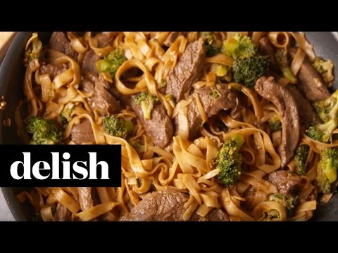 How To Make Beef & Broccoli Noodles | Delish
