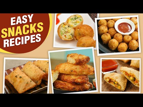 Best Snacks Ideas | 5 Instant Snacks Recipes | Potato Snacks | Paneer Snacks | Pizza Puff Recipe