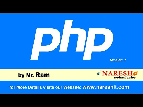 PHP Online Training   Session 2   by Mr. Ram - YouTube