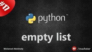 Empty list in Python