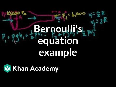 Bernoulli's example problem (video) | Fluids | Khan Academy