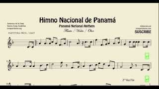 National Anthem of Panama Easy Sheet Music for Flute Violin and Oboe Himno Istmeño