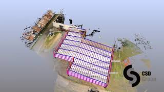 Point cloud overlay for a warehouse project