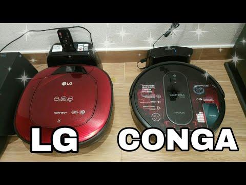 РАСПАКОВКА. Робот пылесос. Обзор и сравнение. LG & CONGA. Говорящий робот пылесос 🎤