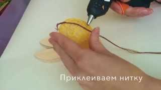 Как сделать Пасхальные яйца из ниток