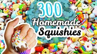 BIGGEST Homemade Squishy Collection EVER (memory foam, polyfoam, makeup sponges and decorated)