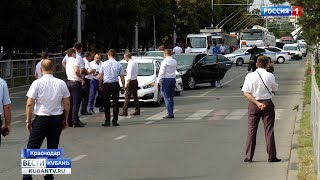 Хроника событий: инцидент со стрельбой произошел на стационарном посту ДПС в Краснодаре