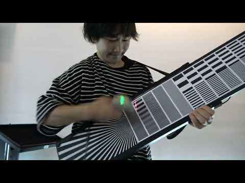Playing Music with Barcode Covered Skateboards