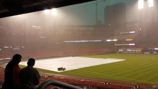 Rain delay #2 at Cards vs Reds