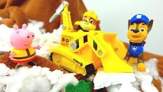 Новая серия СВИНКИ ПЕППЫ и игрушки ЩЕНЯЧИЙ ПАТРУЛЬ! Бесплатное видео для детей! Опасные горы!