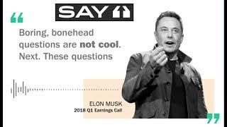 Ask Elon A Question On Tesla's Q1 2019 Call!