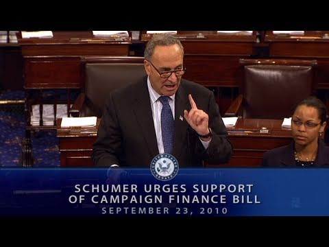 Schumer Urges Support of Campaign Finance Bill