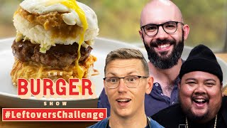 Binging with Babish, Mythical Chef Josh, and Alvin Cook the Ultimate Leftovers Burger
