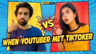 When YouTuber Met TikToker   Ft. Shreya Gupto & @Rishhsome   YouTube vs TikTok