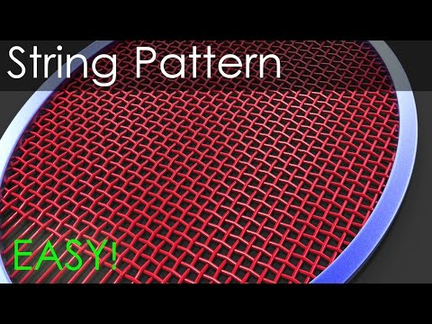 Creating a string pattern for any shape – 3ds max tutorial