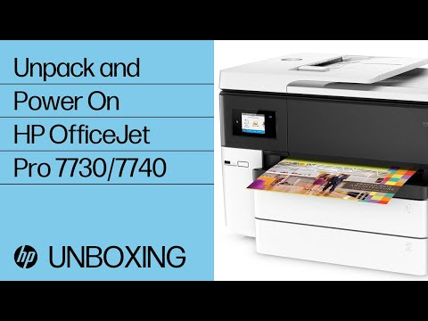Unpacking and Powering On the HP OfficeJet Pro 7730, 7740 Wide Format All-in-One Printer Series