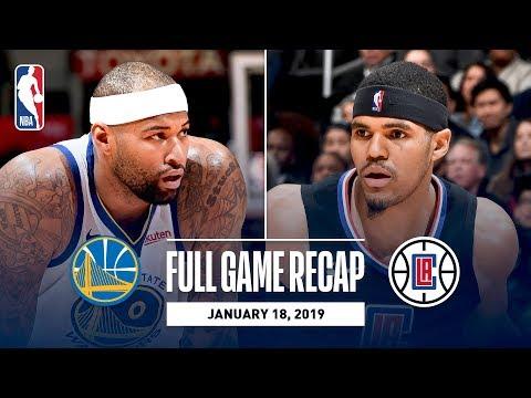 Full Game Recap  Warriors vs Clippers  606dc33a3