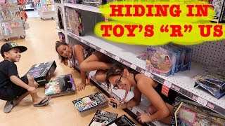 """HIDING AT TOY'S """"R"""" US"""
