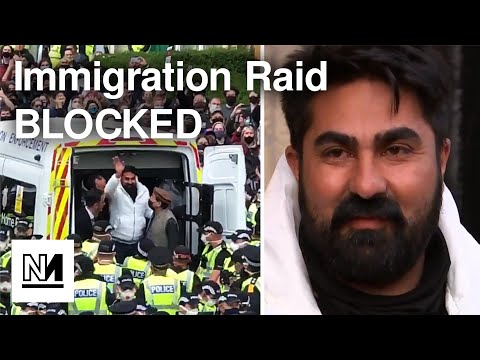 Immigration Raid BLOCKED By Neighbours In Glasgow