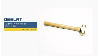 1 lb Brass Hammer with 10