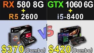 ryzen 5 2600x rx 580 8gb vs i5 8400 gtx 1060 6gb - TH-Clip
