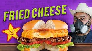 El Guzii te enseña a hacer la Big Fried Cheese de Carl's JR por la cuarentena para que no salgan a las calles a comer. Disfruten los visual!  Suscríbete para ver videos cada martes: http://bit.ly/13C629G  Mi canal personal (Guzii World): http://youtube.com/GuziiWorld  VIDEO MÁS VISTO: Haz tu máquina de Ice Cream Rolls. https://bit.ly/2MvE7Gp  *************************************************** FACEBOOK - http://www.facebook.com/ElGuziiOfficial TWITTER - http://www.twitter.com/elguzii  INSTAGRAM - http://www.instagram.com/elguzii  WEBSITE - http://www.elguzii.com   *************************************************** ¿GUSTAS ENVIARME ALGO?   Gustavo (El Guzii) 591 Telegraph Canyon Rd. #562 Chula Vista, CA 91910  *************************************************** CANTIDADES:  *** PARA EL QUESO FRITO *** - 1/2 kg de Queso que prefieras (recomiendo queso cheddar) - 1 taza de Harina de Trigo - 1 cdta de Sal - 350ml de Agua Mineral (carbonatada) - 1 paquete de Pan Molido (PANKO) - 1 litro de Aceite para freír. - Termómetro (aceite a 365'F o 185'C)  *** PARA LA SALSA ESTRELLA *** - 3 cdas Mayonesa - 1 cda de kétchup - 1 tbs azucar glass - 1/2 cdta Paprika - 1/4 cdta de comino - 1 cdta chile habanero  *** PARA LA CARNE *** - Carne Molida de Res (1/2 kg de Diesmillo con 1/2 kg de Costilla Deshuesada)     ***************************************************
