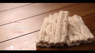Knit Boot Cuffs With Pattern | 1 Hour Project Knitting Tutorial With Stefanie Japel