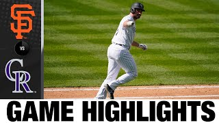 5-run 7th propels Rockies to victory | Giants-Rockies Game Highlights 8/6/20
