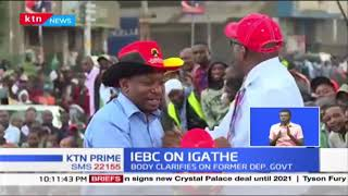 IEBC refutes claims that it still recognizes Igathe as the Nairobi Deputy Governor