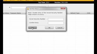 Starting a Tax Return in CrossLink 1040 Professional Tax Software