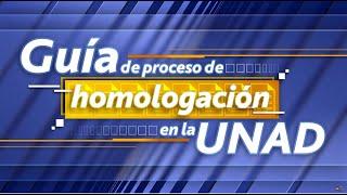Guia del proceso de Homologación
