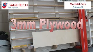 Sagetech Machinery's Vertical Panel Saw Cutting 3mm Plywood