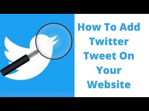 How to add twitter tweet on your website