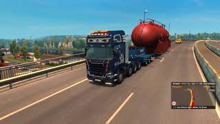 [Special Transport DLC] ETS2 - Heat Exchanger (70t) from Nantes to Civaux (1440p)