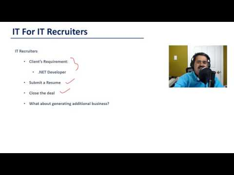 Recruiter Training - IT for IT Recruiters - Introduction (New Video 1 ...