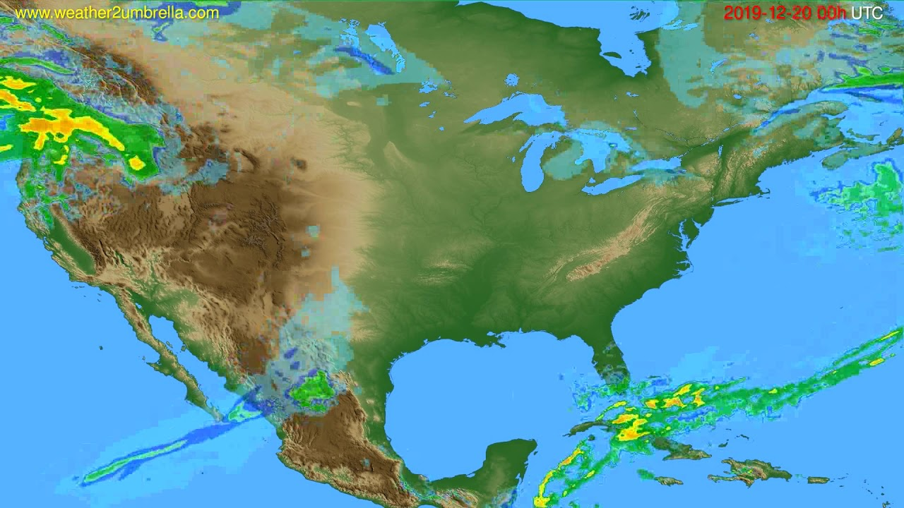 Radar forecast USA & Canada // modelrun: 12h UTC 2019-12-19
